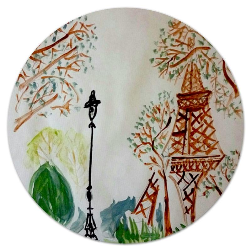 Коврик для мышки (круглый) Printio Париж-париж