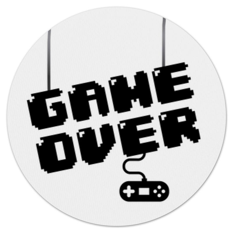 Коврик для мышки (круглый) Printio Game over