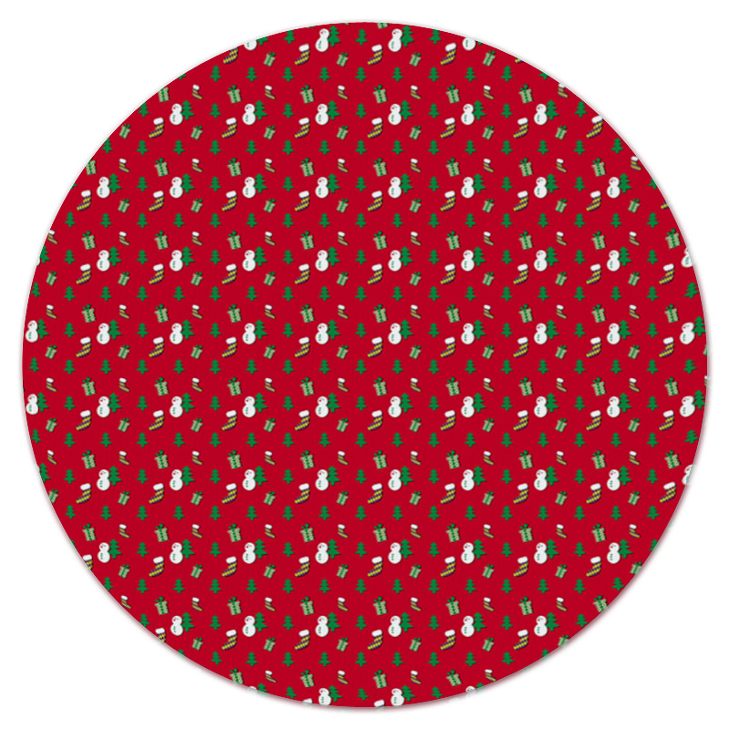 Коврик для мышки (круглый) Printio Новый год