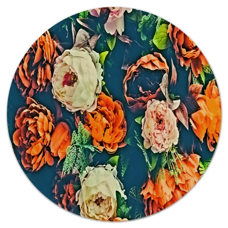 Коврик для мышки (круглый) Printio Flowers коврик для мышки круглый printio одуванчик