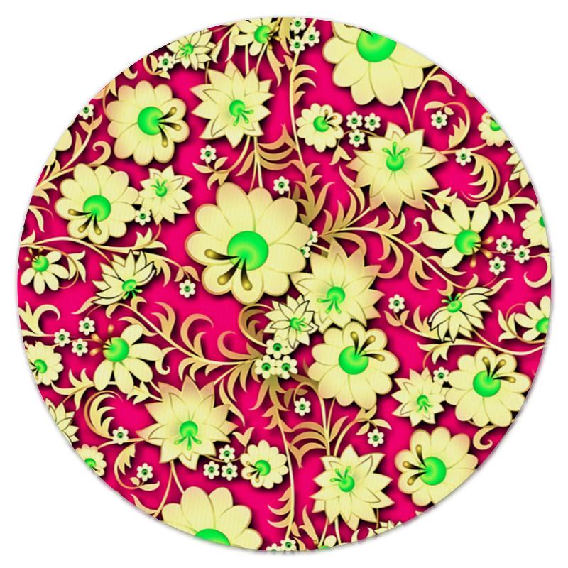 Коврик для мышки (круглый) Printio Цветочная поляна коврик для мышки printio цветочная цепочка