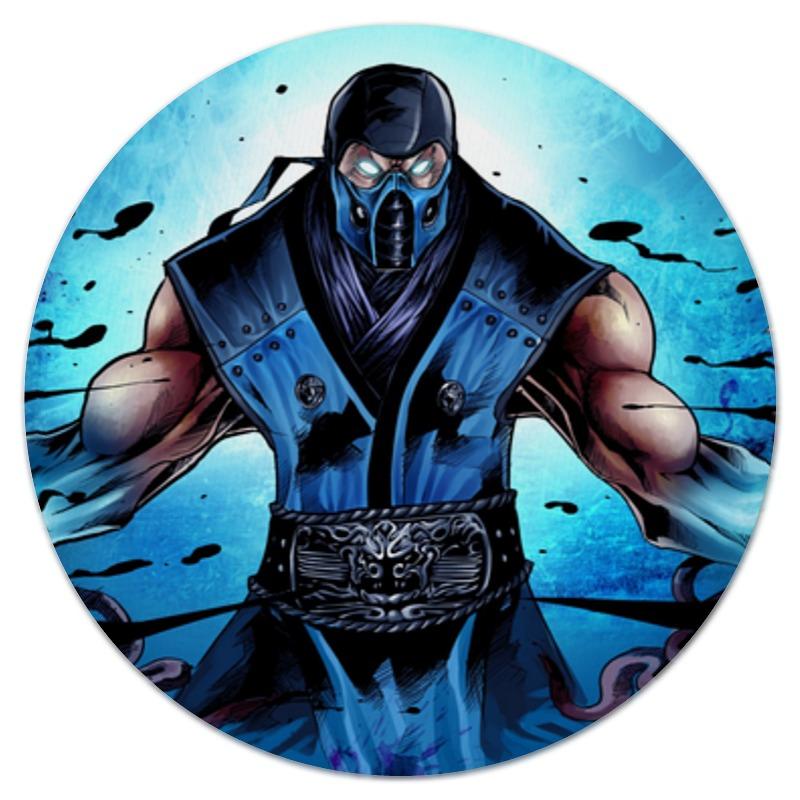 Коврик для мышки (круглый) Printio Mortal kombat x (sub-zero) видеоигра для ps4 mortal kombat x