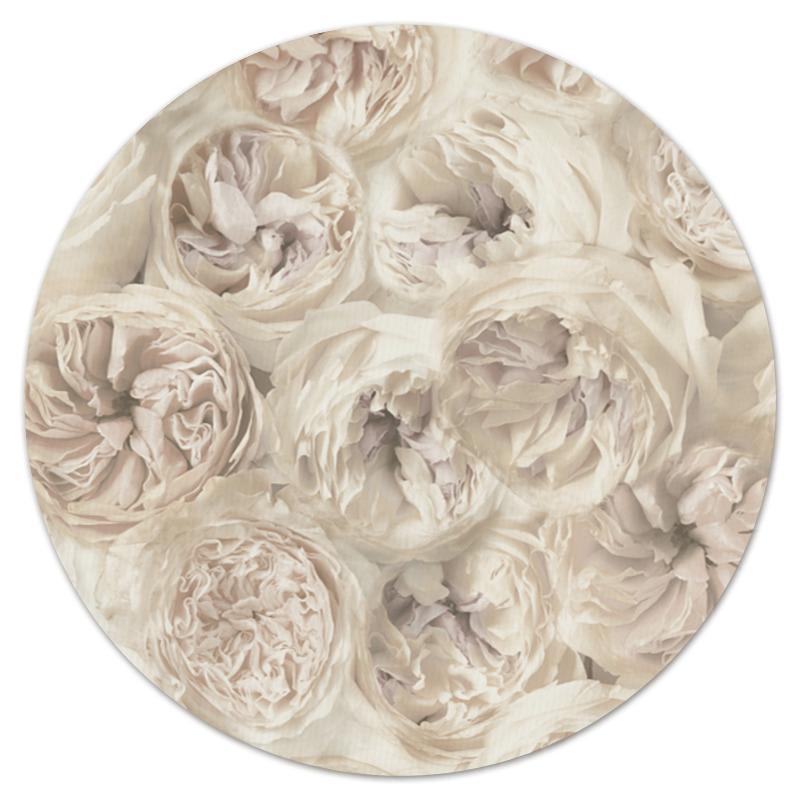 Коврик для мышки (круглый) Printio белые цветы коврик для мышки круглый printio цветы фэнтези
