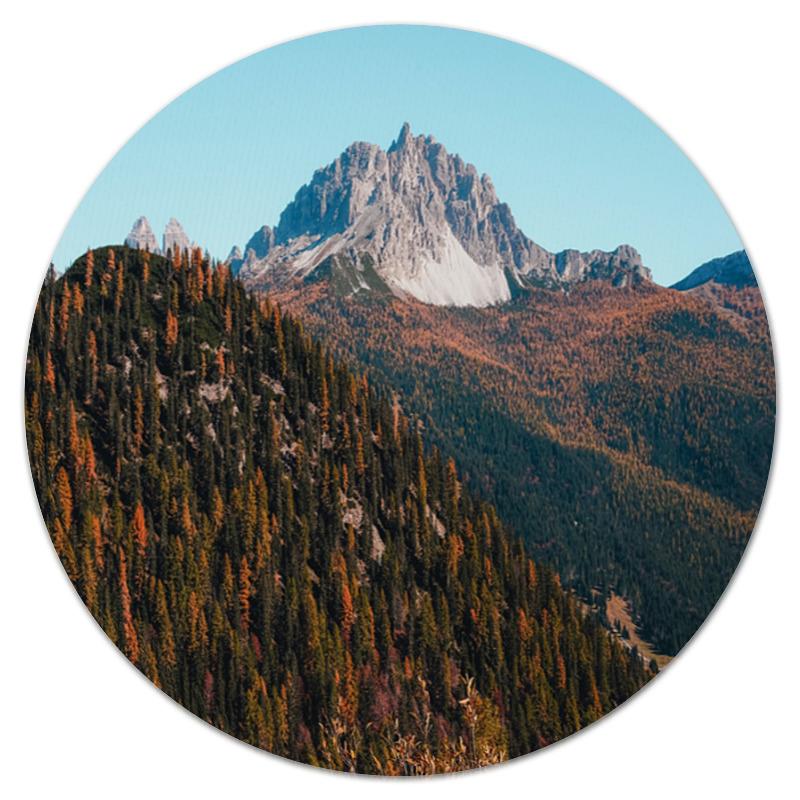 коврик для мышки круглый printio горы и лес Коврик для мышки (круглый) Printio Скалы и лес