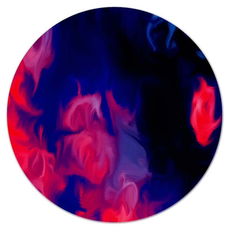 Коврик для мышки (круглый) Printio Узор красками цена