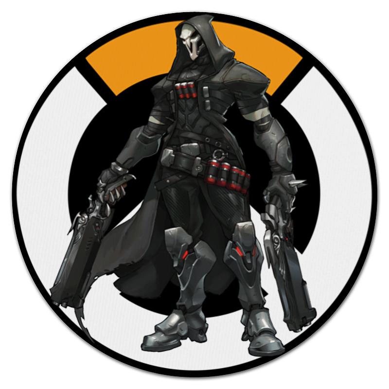Коврик для мышки (круглый) Printio Overwatch reaper / жнец овервотч