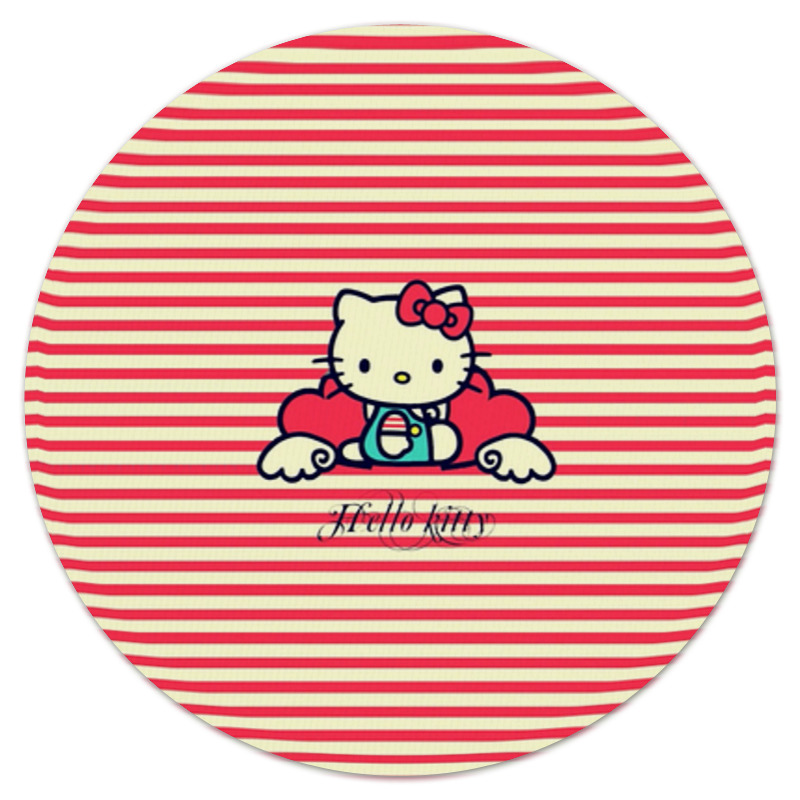 Коврик для мышки (круглый) Printio Ретро (hello kitty) cxzyking 20cm sweet new kt cat hello kitty plush toys cute hug mushroom hello kitty kt cat pillow dolls for kids baby girl gift