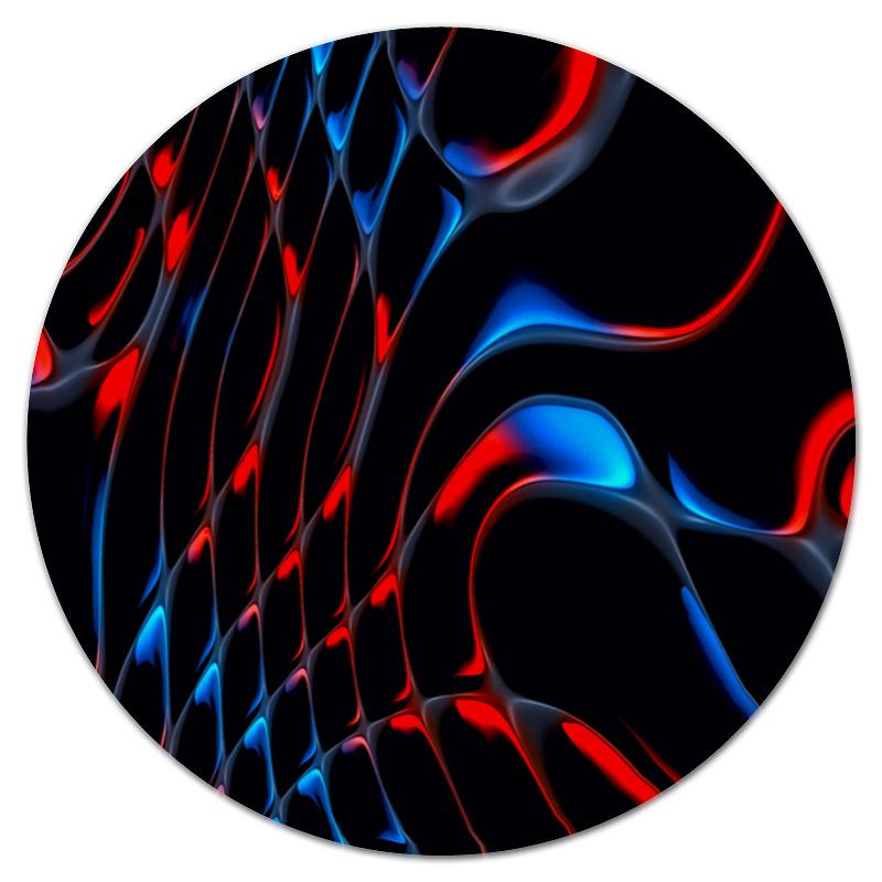 Коврик для мышки (круглый) Printio Красно-синие полосы бомбер printio красно синие полосы