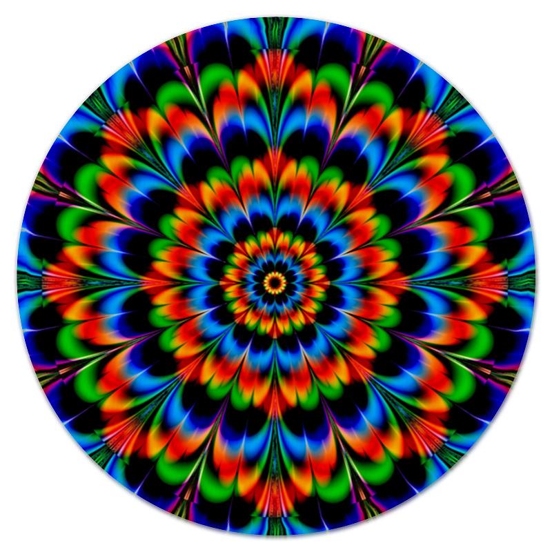 Коврик для мышки (круглый) Printio Абстрактный цветок коврик для мышки круглый printio козел