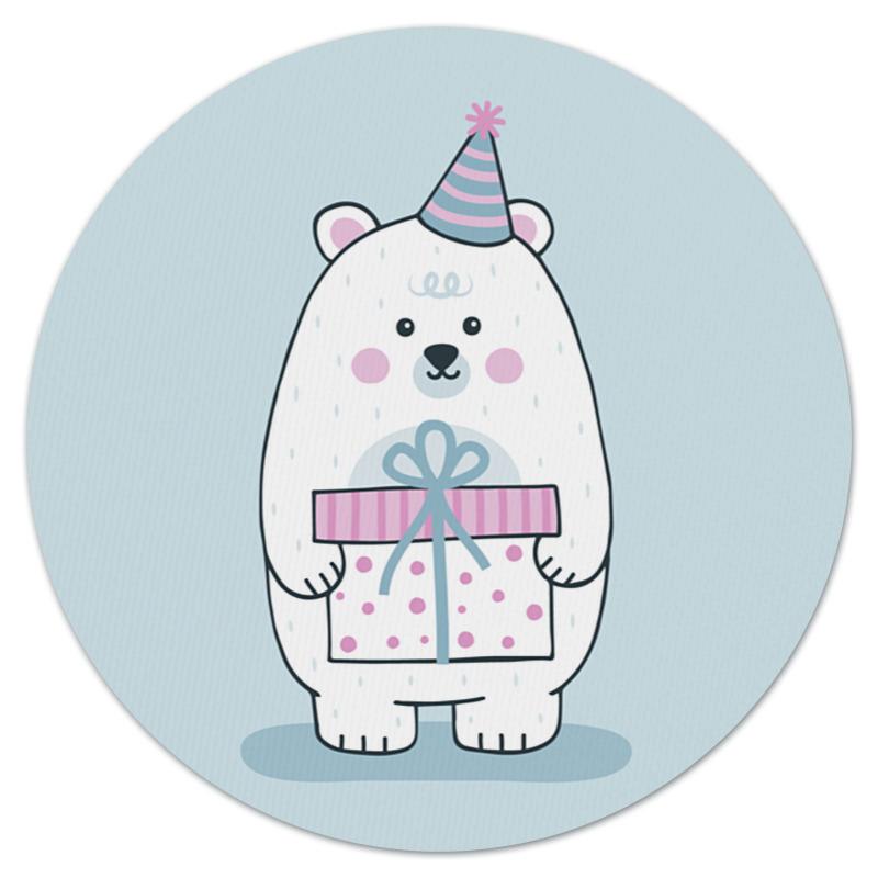 Коврик для мышки (круглый) Printio Полярный медведь.