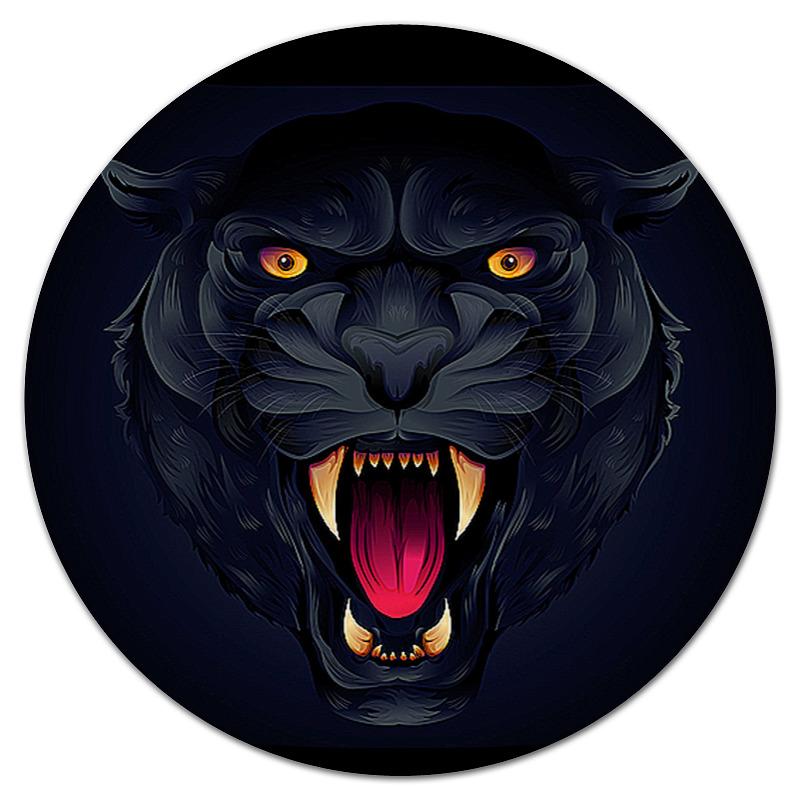 лучшая цена Коврик для мышки (круглый) Printio Черная пантера