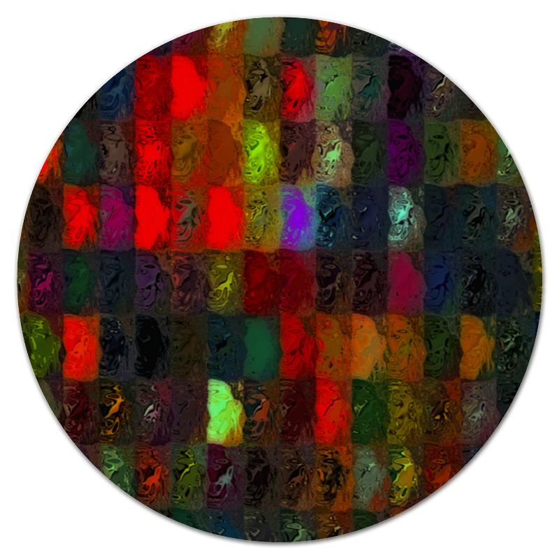 Коврик для мышки (круглый) Printio Кубики красками цена