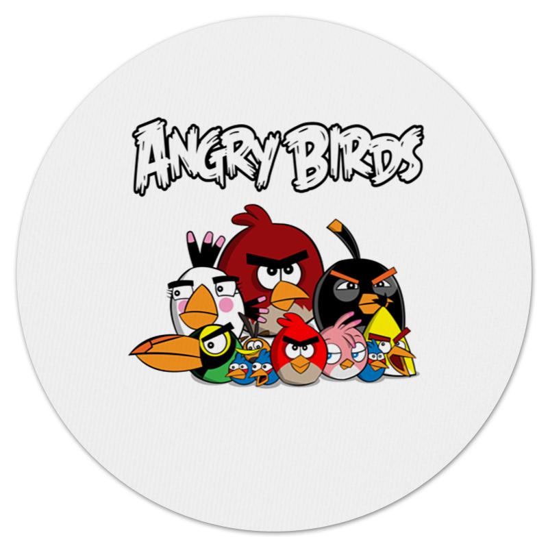 Коврик для мышки (круглый) Printio Angry birds angry birds movie фруктовое драже с игрушкой 20 г