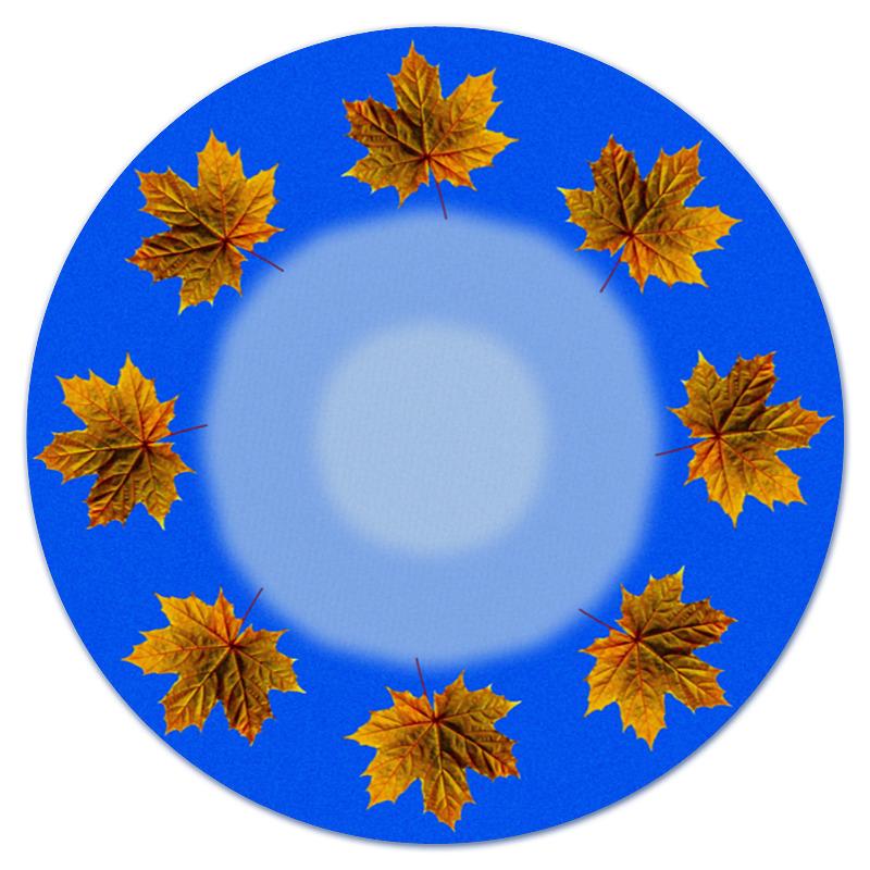 Коврик для мышки (круглый) Printio Кленовые листья