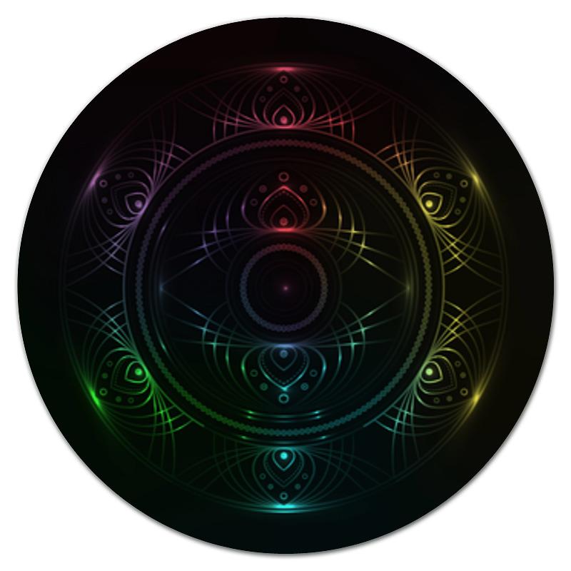 Коврик для мышки (круглый) Printio Rainbow mandala