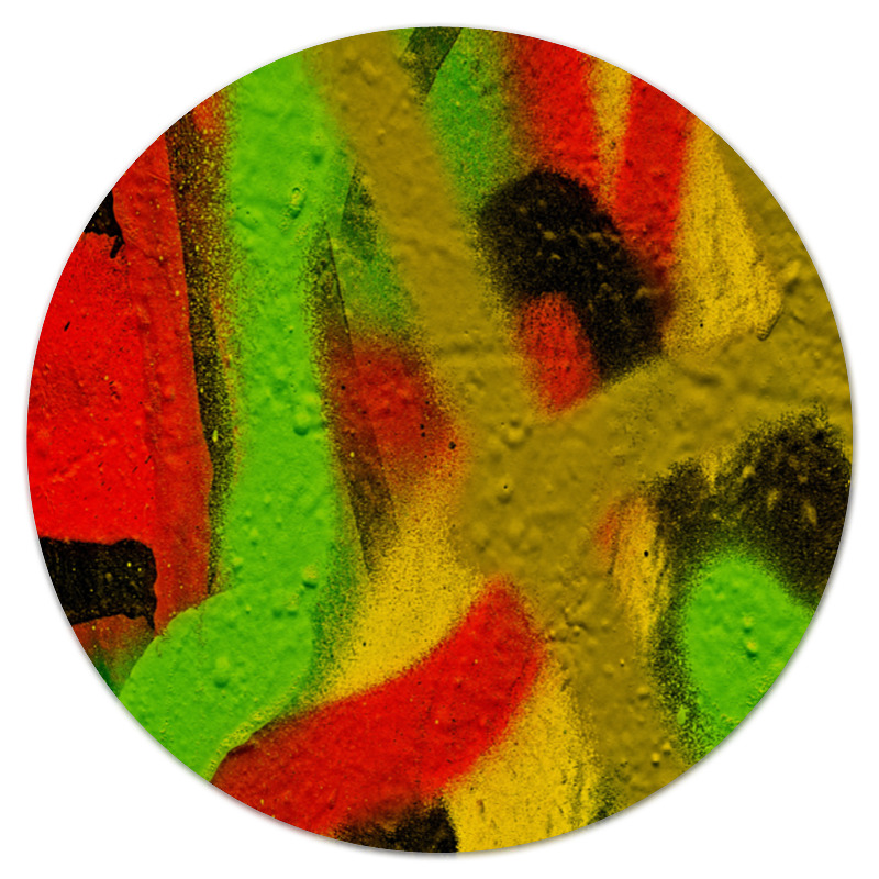 Коврик для мышки (круглый) Printio Граффити