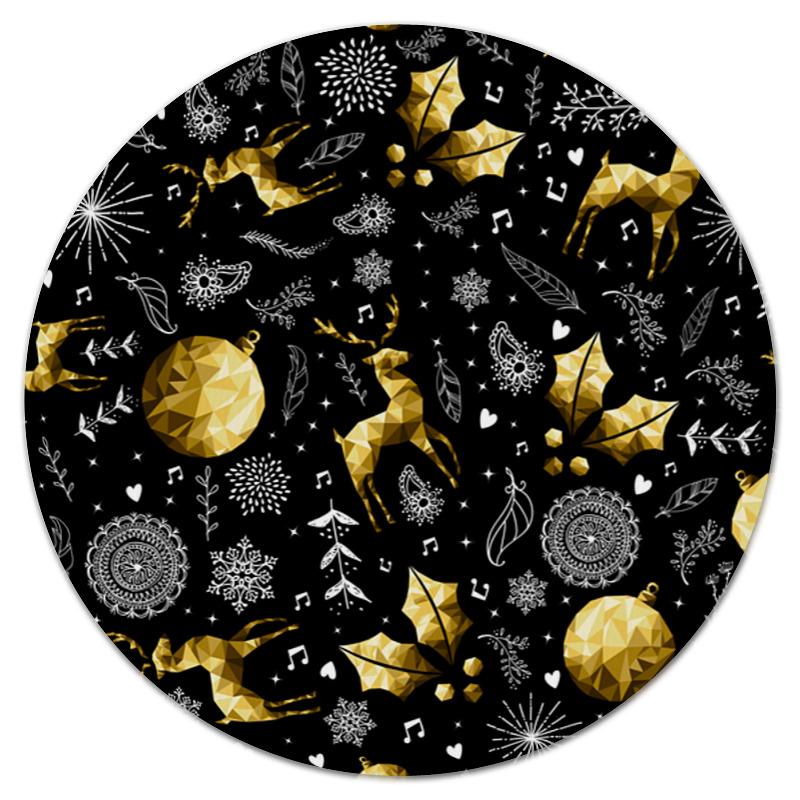 Коврик для мышки (круглый) Printio Золотые игрушки
