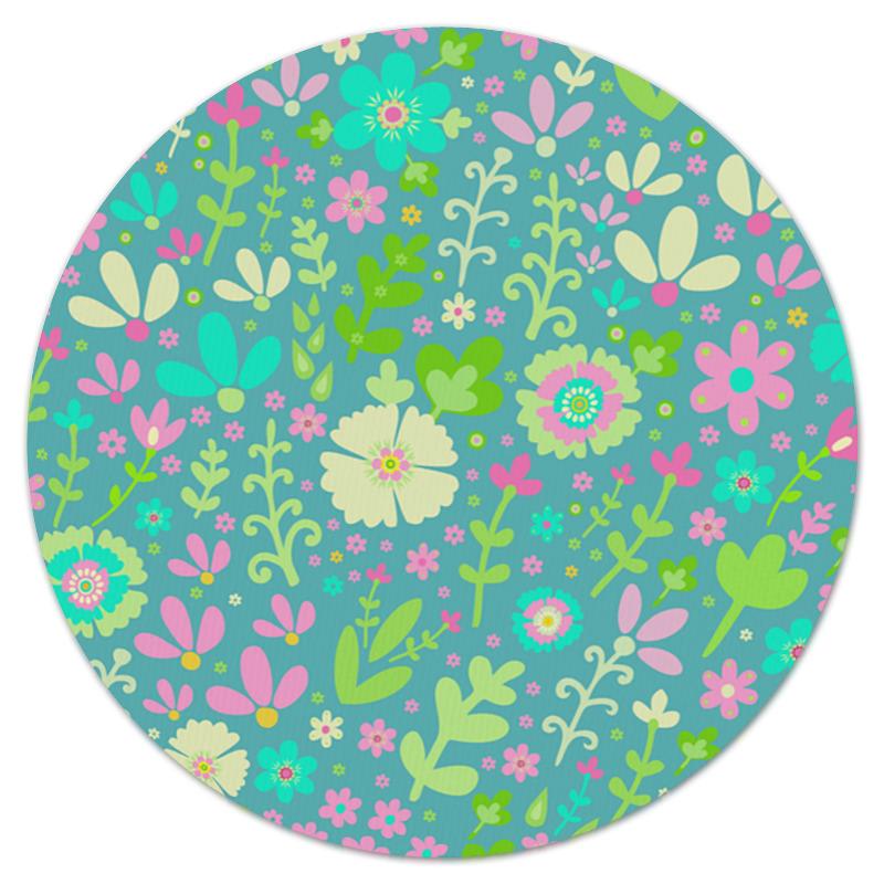 Коврик для мышки (круглый) Printio Цветочная полянка
