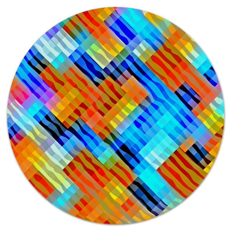 Коврик для мышки (круглый) Printio Волнистый узор