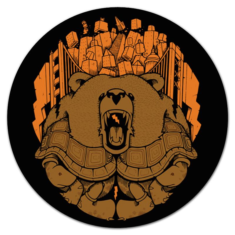 Коврик для мышки (круглый) Printio Bear city / медведь цена 2017