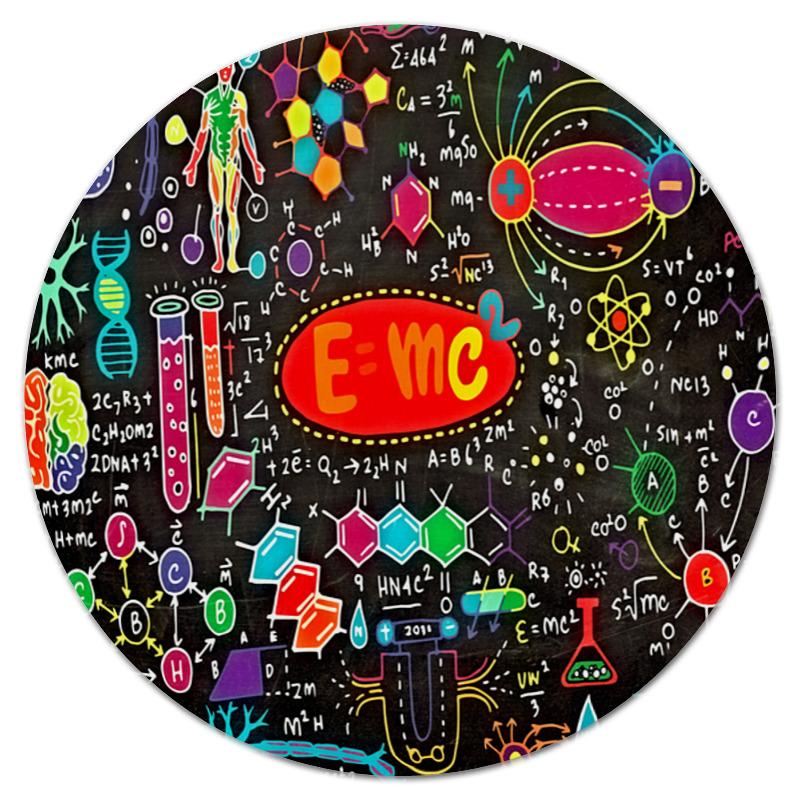 Коврик для мышки (круглый) Printio Химия бытовая химия ева