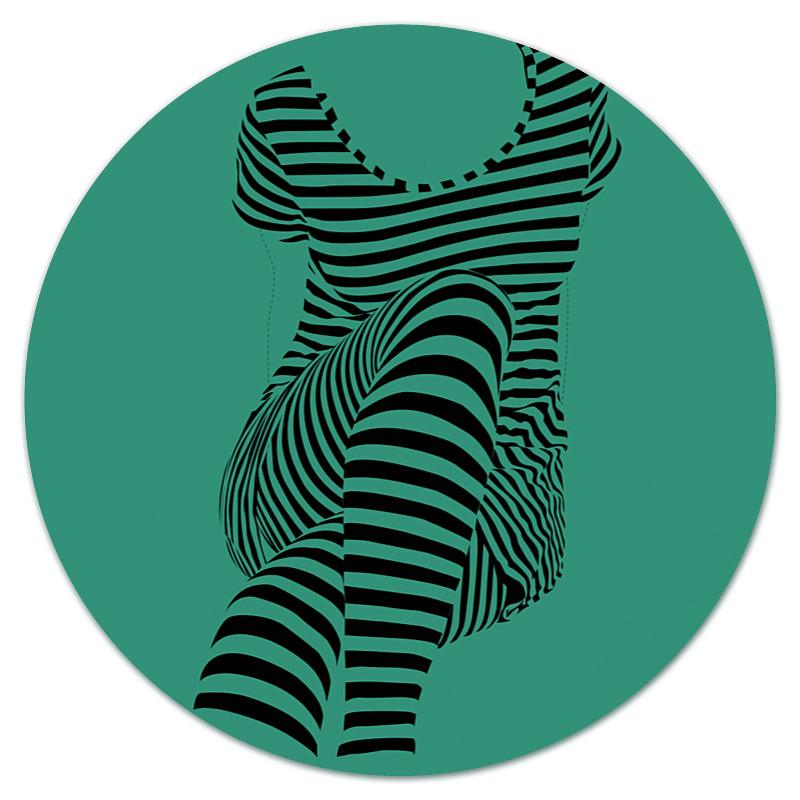Коврик для мышки (круглый) Printio раздвоение личности