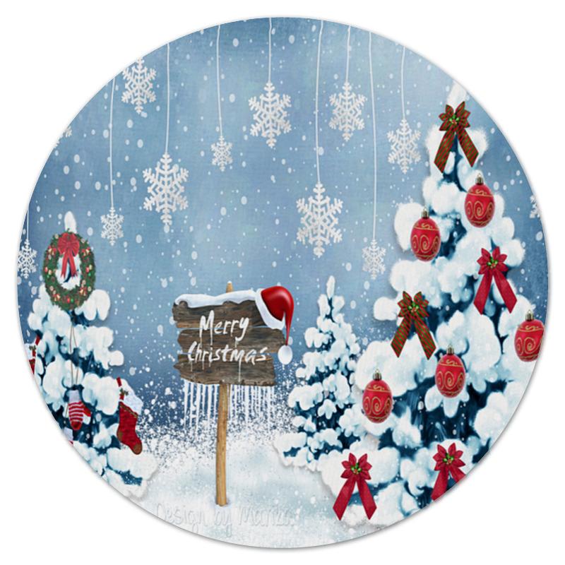 Коврик для мышки (круглый) Printio Christmas decorative pillow christmas decoration decorative pillow