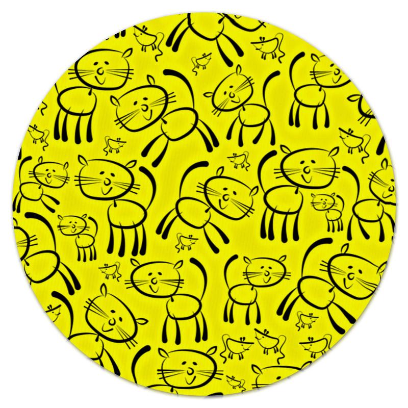 Коврик для мышки (круглый) Printio Котенок коврик для мышки круглый printio elkka siren