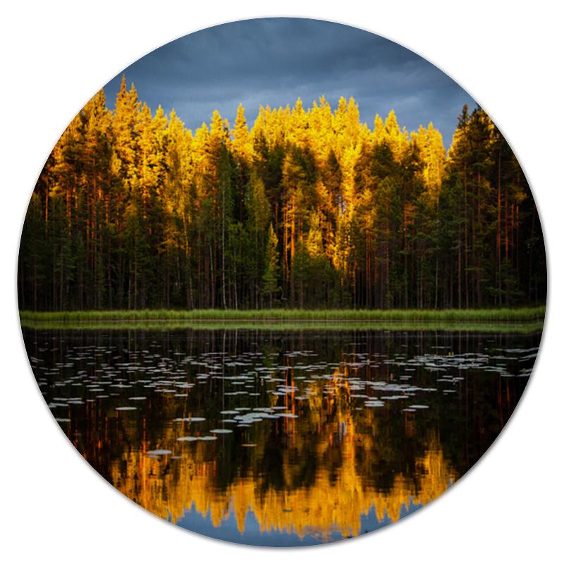 Коврик для мышки (круглый) Printio Осенний пейзаж