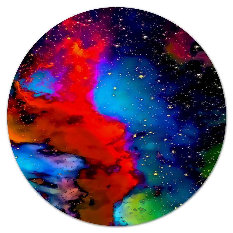 Коврик для мышки (круглый) Printio Краски космоса