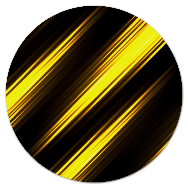Коврик для мышки (круглый) Printio Желтые полосы