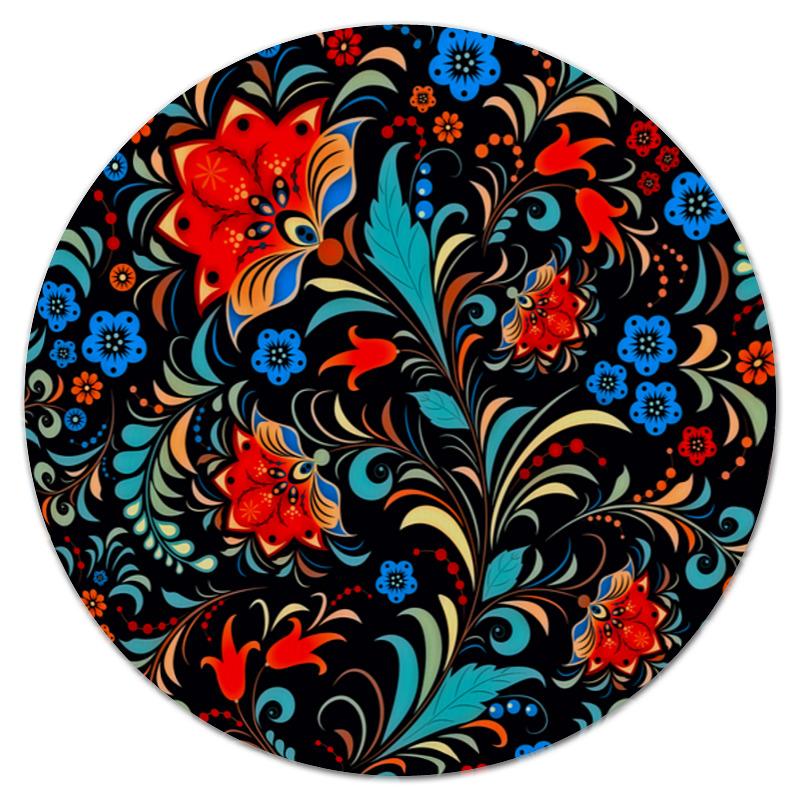 Коврик для мышки (круглый) Printio Цветочная роспись коврик для мышки printio цветочная цепочка