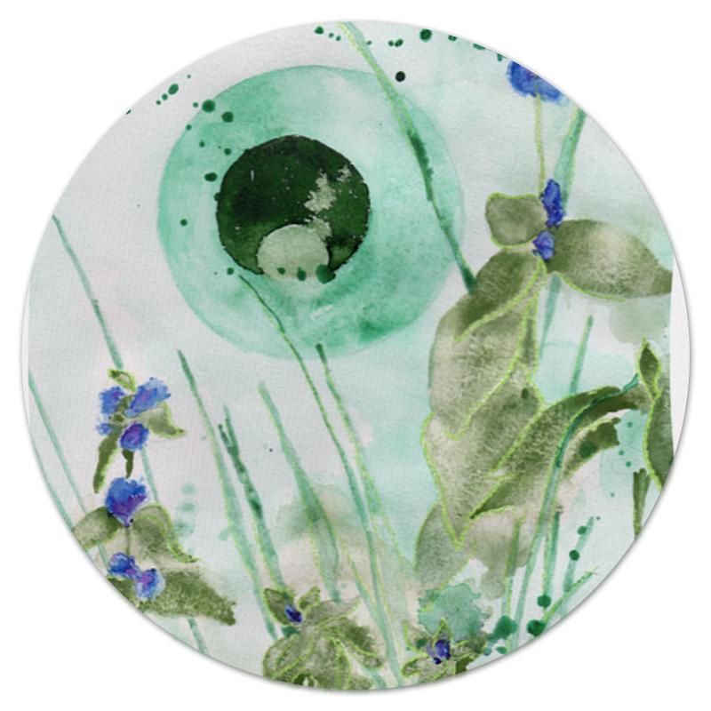 Коврик для мышки (круглый) Printio Мятное утро
