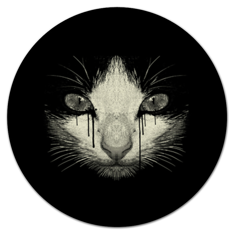 Коврик для мышки (круглый) Printio Cat night