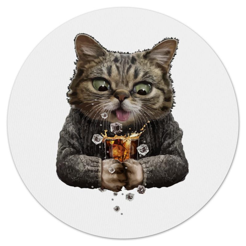 Коврик для мышки (круглый) Printio Whiskey cat б житков морские истории