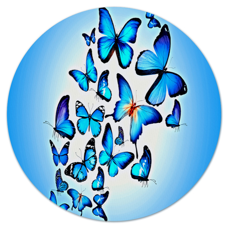 Коврик для мышки (круглый) Printio Бабочки