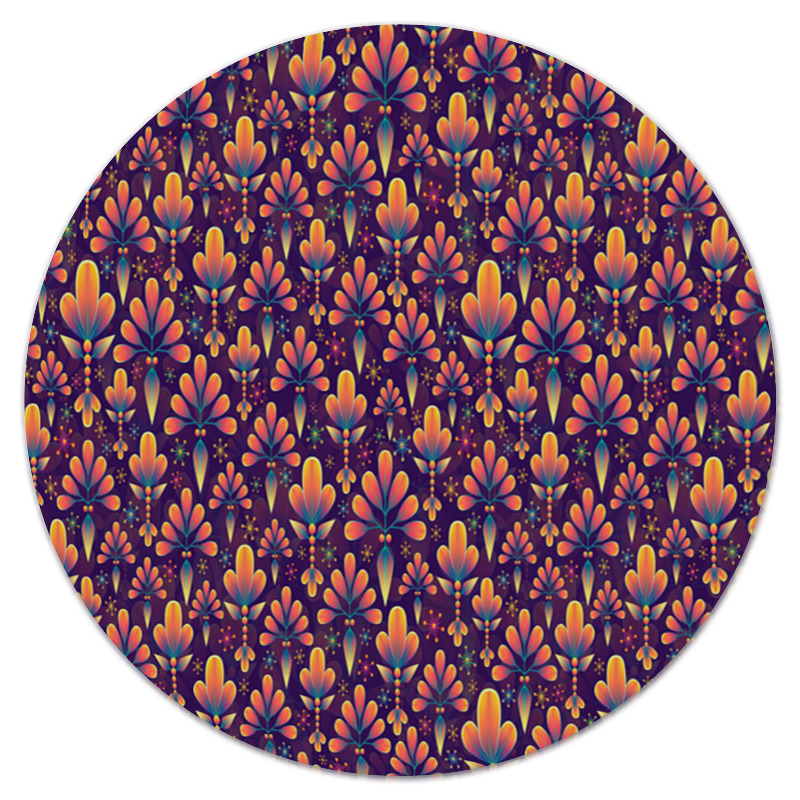 Коврик для мышки (круглый) Printio Лепестки цветов коврик для мышки круглый printio девушка и лепестки