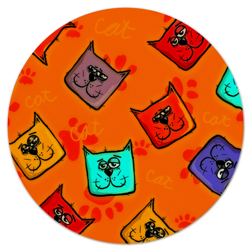 Коврик для мышки (круглый) Printio Морда кота