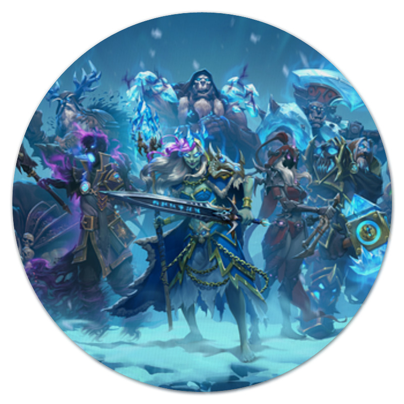 Коврик для мышки (круглый) Printio Knights of the frozen throne 2014 best quality mochila frozen for the new semester free shipping