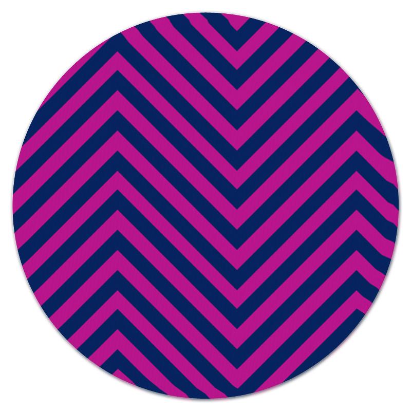 Коврик для мышки (круглый) Printio Фиолетовые полосы