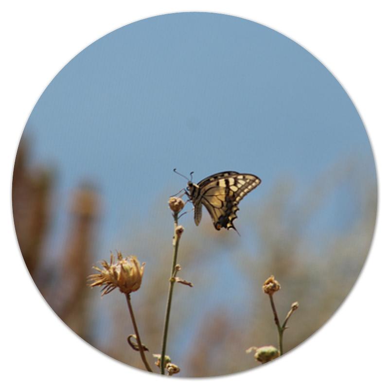 Коврик для мышки (круглый) Printio Бабочка махаон