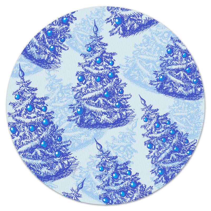 Коврик для мышки (круглый) Printio Снежные елки коврик для мышки printio снежные елки