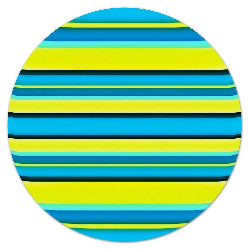Коврик для мышки (круглый) Printio Яркие линии