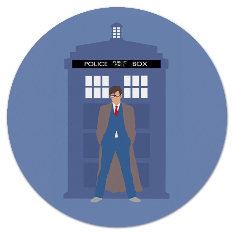 Коврик для мышки (круглый) Printio Доктор кто и тардис / doctor who & tardis футболка рингер printio доктор кто doctor who
