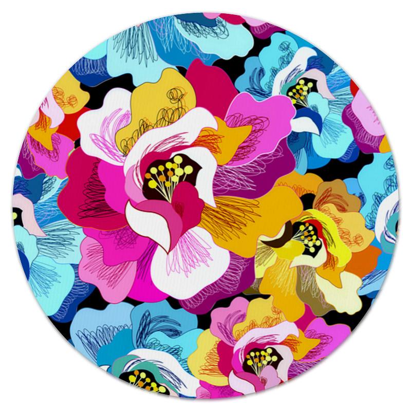 Коврик для мышки (круглый) Printio Цветы коврик для мышки круглый printio леденцы
