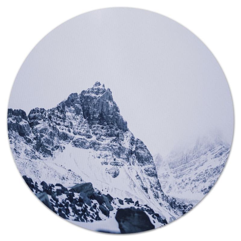 Коврик для мышки (круглый) Printio Снежные скалы коврик для мышки printio снежные елки