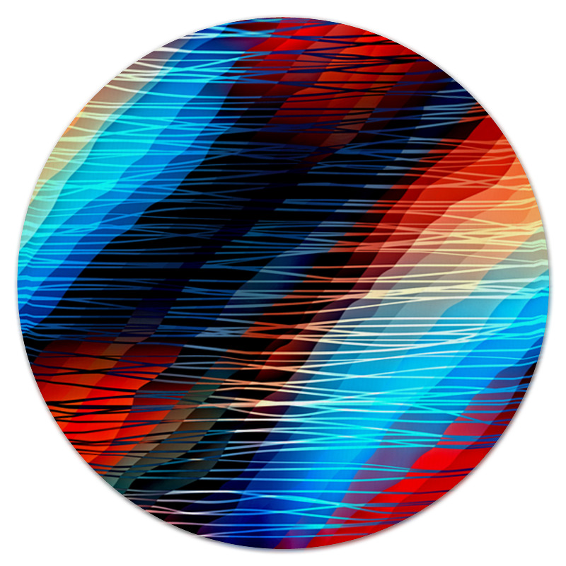 Коврик для мышки (круглый) Printio Цветные текстуры коврик для мышки круглый printio козел