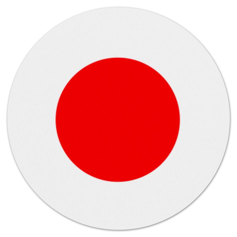 Коврик для мышки (круглый) Printio Японский флаг