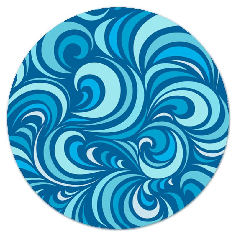 Коврик для мышки (круглый) Printio Морской узор коврик для мышки круглый printio козел