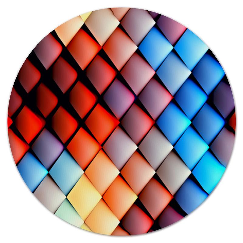 Коврик для мышки (круглый) Printio Кубики абстракция кубики мди